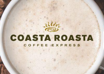 Coasta Roasta Coffee Express logo